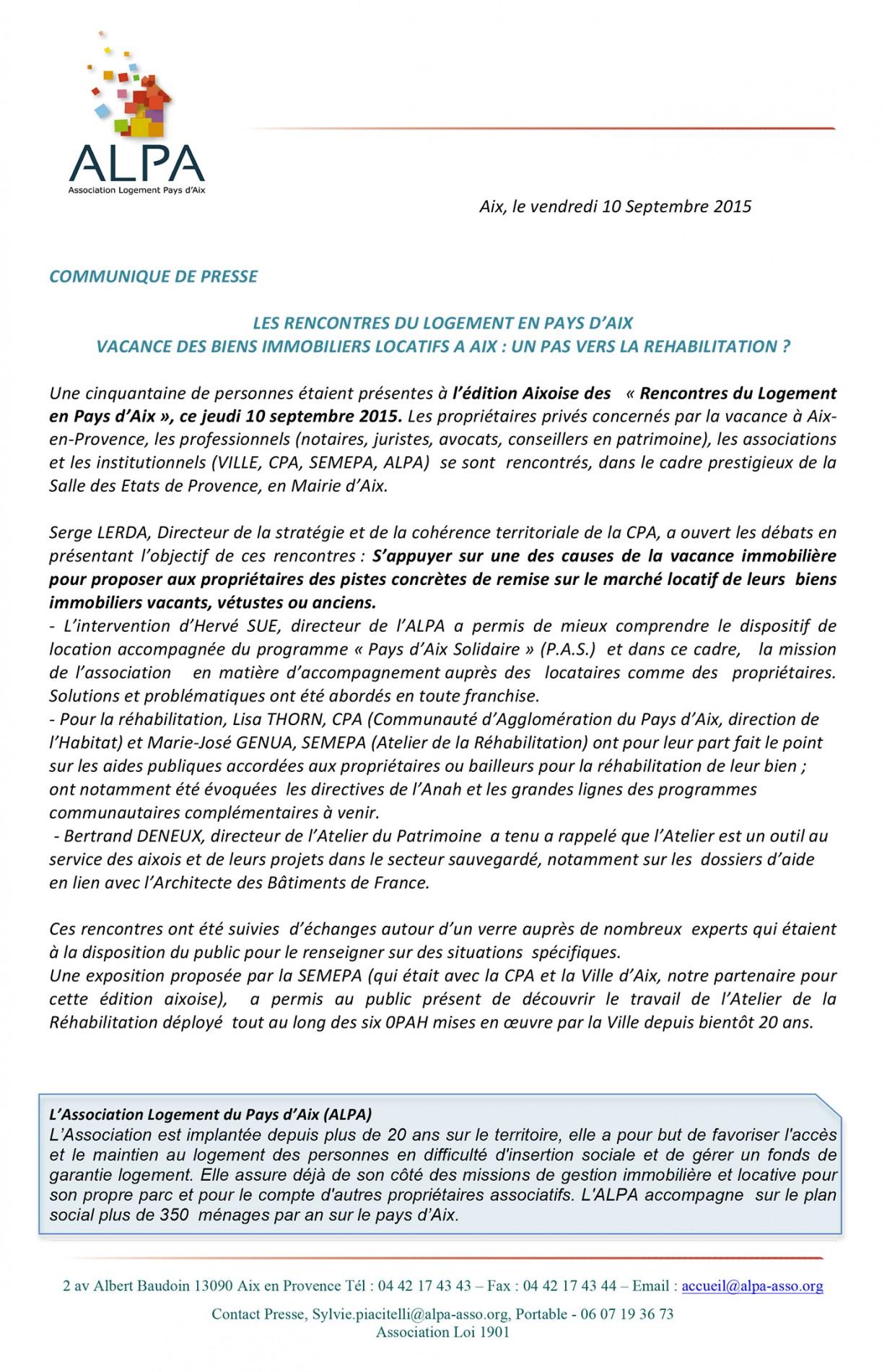 Microsoft Word - Communiqué ALPA- CR10 septembre 2015.doc